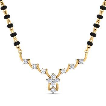 0.16ct diamond 18kt gold mangalsutra