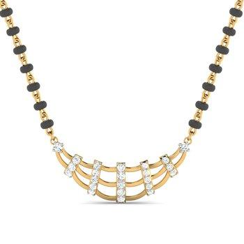 0.23ct diamond 18kt gold mangalsutra