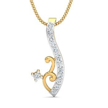0.1ct diamond 18kt gold pendants