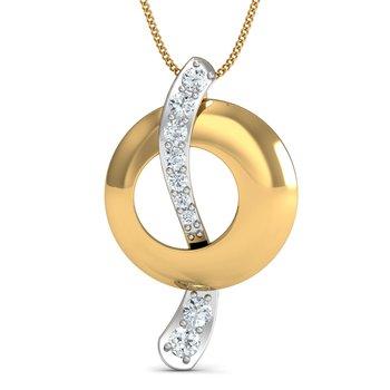 0.09 diamond 18kt gold pendants
