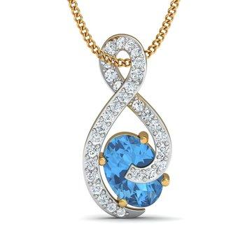 0.2 diamond 18kt gold pendants