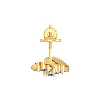 0.06ct diamond studs 18kt gold earrings