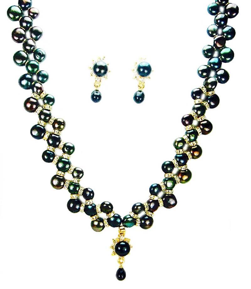 buy freshwater pearl black semi precious gemstone