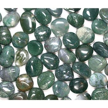 Moss agate tumbled stone set of 7 chakra healing crystal gemstone jewellery