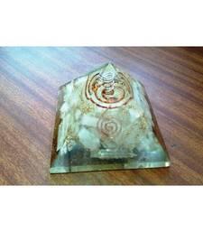Buy Selenite 3.5 inch orgonite pyramid crown chakra healing crystal gemstone other-gemstone online