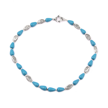 Ocean spike mosaic beads necklace