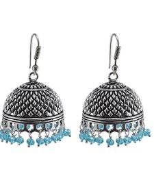 Buy Rajasthani Tribal Large Jhumka With Blue Topaz CrystalJaipur Traditional Jewellery jhumka online