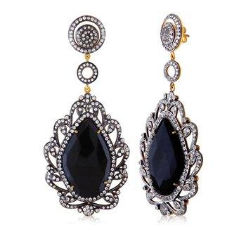 6.2ct Stone Silver gemstone-earrings