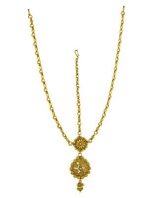 Clear Polki Stones Matha Patti Damini Jewellery for Women - Orniza