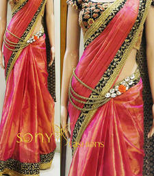 Buy Pink embroidered georgette saree bollywood-saree online