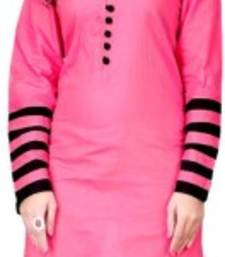 Buy Pink Color Stitched Kurti In Cotton Fabric. party-wear-kurti online