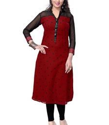 Buy Red printed georgette kurtas-and-kurtis kurtas-and-kurti online