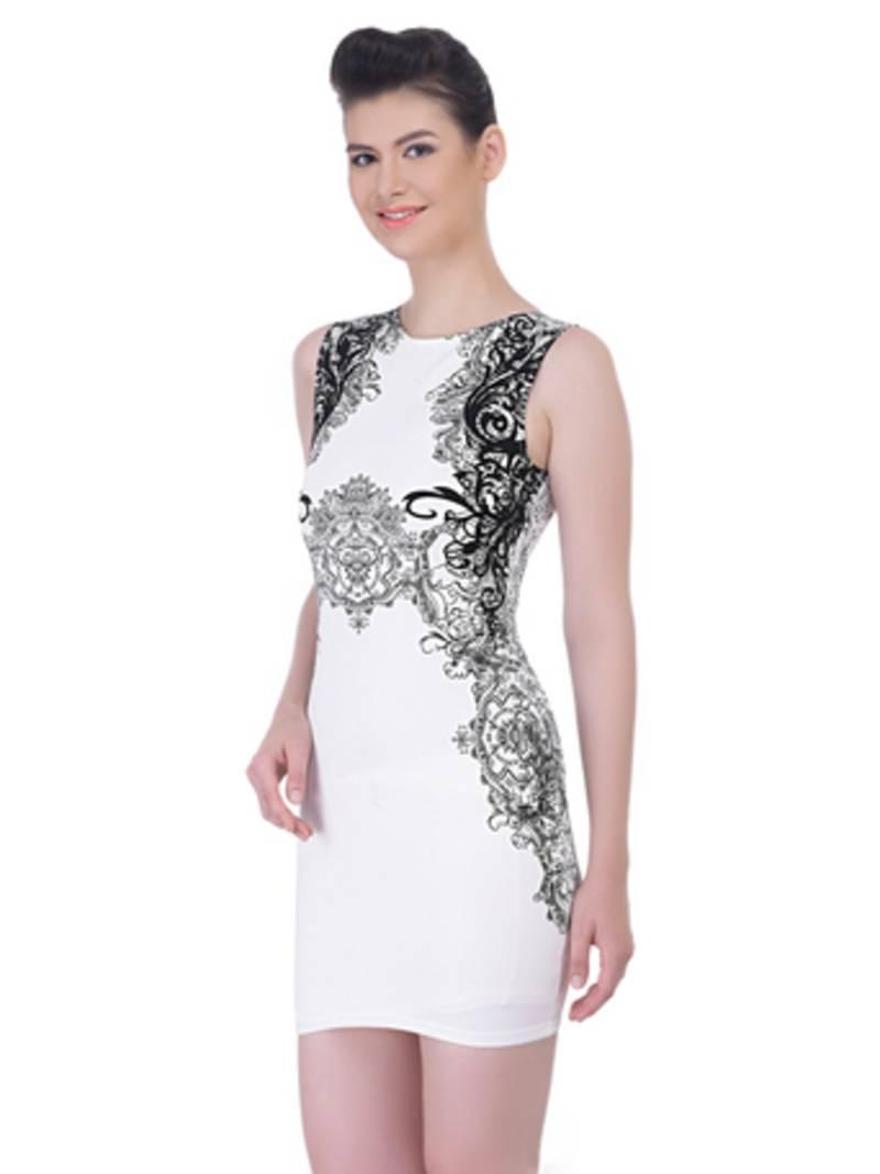 Buy White Viscose Sexy Western Wear Online-8330