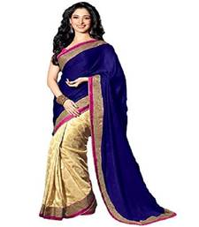 Buy Blue embroidered georgette saree with blouse party-wear-saree online