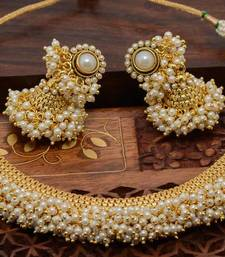 Buy White pearl necklace-sets black-friday-deal-sale online
