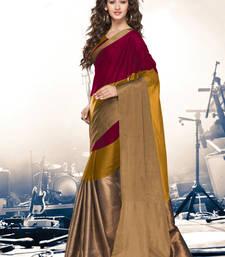 Buy Multicolor printed cotton silk saree with blouse wedding-saree online