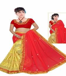 Buy hand work saree embroidered georgette saree with blouse hand-woven-saree online