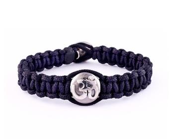 Aum Bracelet in 925 Silver With Single Diamond for Men