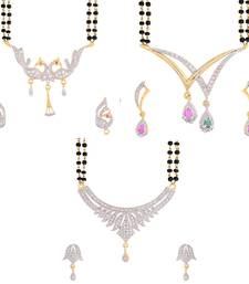 Buy American diamond Mangalsutra set combo  mangalsutra online