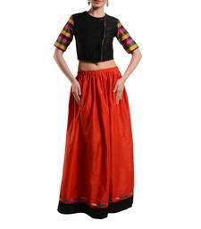 Buy Women's Designer Crop Top With Gathered Skirt crop-top online