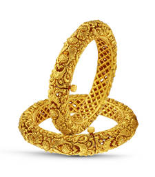 Buy Antique Gold Finish Traditional Bangle bangles-and-bracelet online