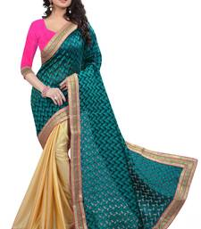 Buy Multicolor printed tissue saree with blouse tissue-saree online