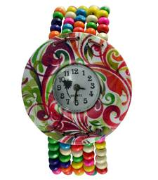 """Buy Vibrant and Colorful"""" Organic Coconut-Wood Watch watch online"""