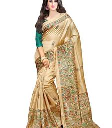 Buy Green printed georgette saree with blouse georgette-saree online