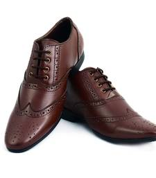 Buy Brown Brouge Lace Up Shoes men-shoe online