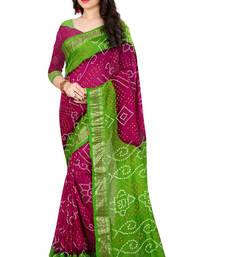 Buy Green hand woven jacquard saree with blouse jacquard-saree online