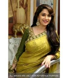 Buy Mehendi embroidered bhagalpuri art silk saree with blouse madhuri-dixit-saree online