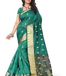 Buy sarees for women party wear New Collection Fancy And Regular Wear Rama Color Saree By Dhyey Creation banarasi-silk-saree online