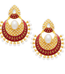 Buy Fine Gold Plated Chandbali Earring For Women danglers-drop online