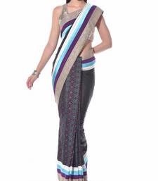 Buy Black ikat saree ikat saree with blouse ikat-saree online