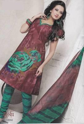Dress Material Cotton Designer Prints Unstitched Salwar Kameez Suit D.No 10002