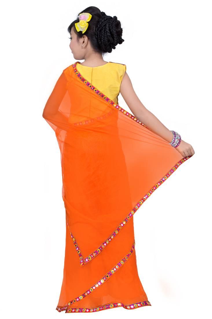 buy kids ready to wear pre stitched saree online