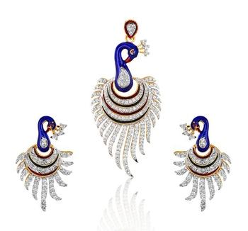 American Diamond Pendant Sets