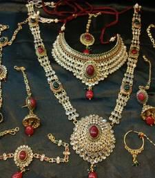 Buy Multicolor Silver Yellow Gold kundan bridal-sets bridal-set online