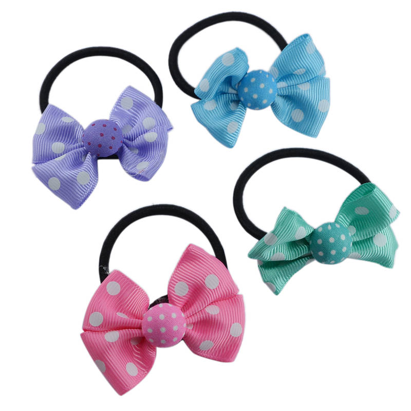 Buy flower design multi color rubber band type 4 piece for Design accessoires