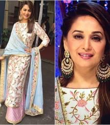 Buy Designer silk semi stitched salwar with dupatta semi-stitched-salwar-suit online