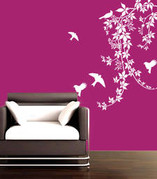 Lovely Birds On Vines Wall Decal