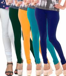 Buy Multicolor Churidar Komal 5Pc Cotton Leggings black-friday-deal-sale online