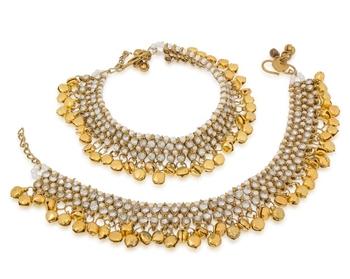 Golden Australian Diamonds Anklets