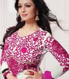 Buy Ayesha Takia Semi Stitched Anarkali by Purple Oyster  anarkali-salwar-kameez online