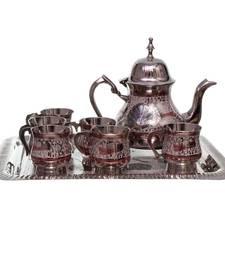 Buy Pure Brass Royal Meenakari Work Real Tea Set tray online