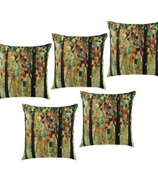 Buy Multicolor printed cushion cover set of five pillow-cover online