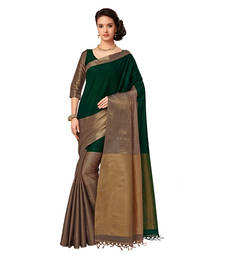 Buy Multicolor printed cotton silk saree with blouse banarasi-saree online