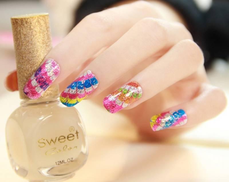 Buy Shimmer \'n sparkle, new fashion Metallic Shining Nail Art ...