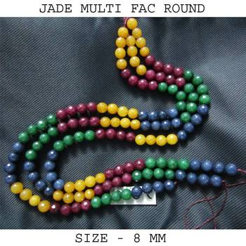MULTI JADE FAC BEADS 8 MM