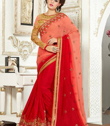 Buy Maroon embroidered bemberg saree with blouse half-saree online